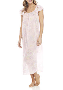 Tricot Printed Flutter Sleeve Gown