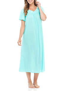 Tricot Flutter Sleeve Long Gown