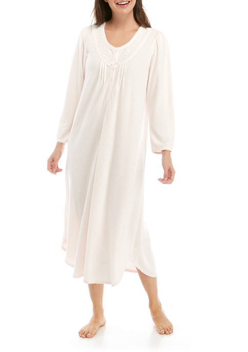 Womens Honeycomb Long Sleep Gown