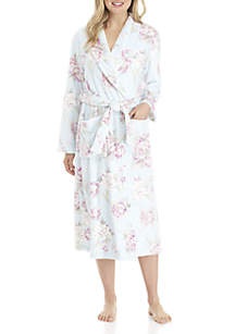 Printed French Wrap Robe