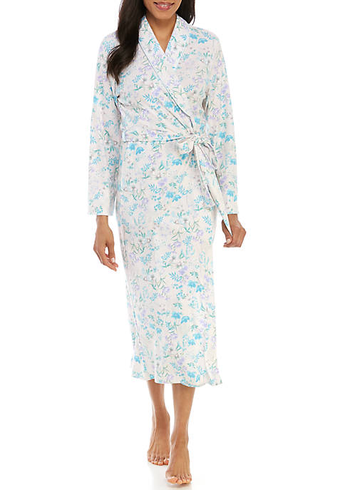 Miss Elaine Cottonessa Long Wrap Robe