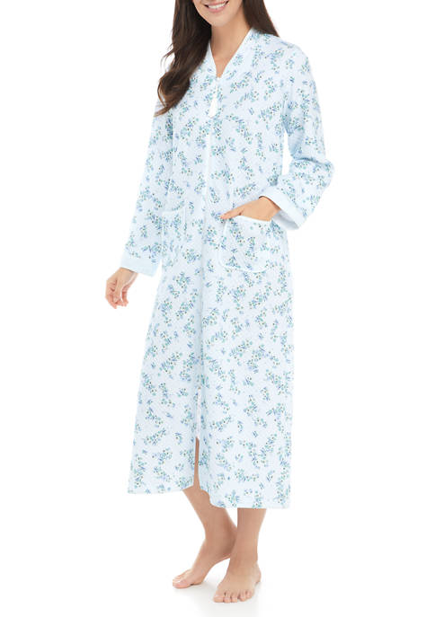 Floral Cottonessa Long Zip Robe