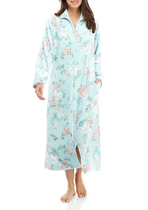 Womens Floral Zip Robe
