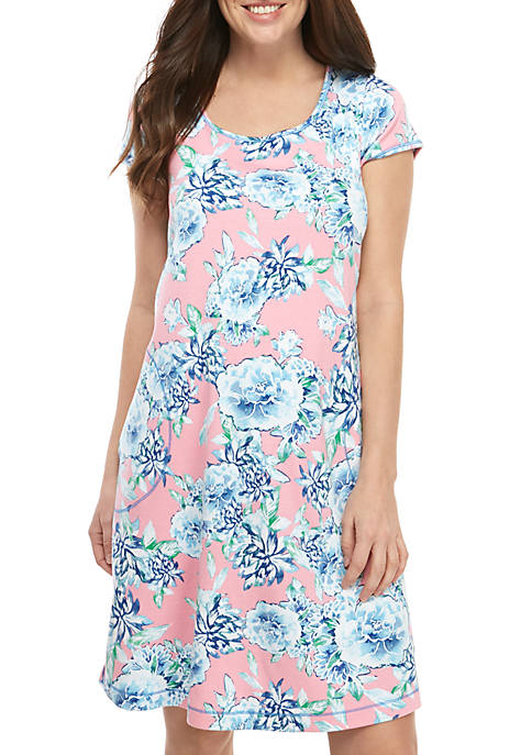 Miss Elaine Interlock Short Sleep Dress