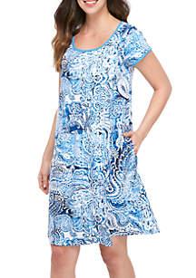 Miss Elaine Interlock Short Nightgown