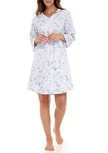 Quilt In Knit Short Zip Robe