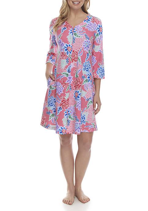 Miss Elaine Interlock Zip Night Gown