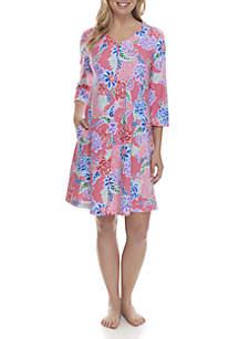 Interlock Zip Night Gown