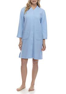 Quilt-in-Knit Short Grip Robe