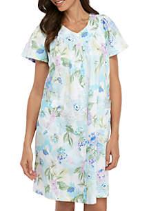 Miss Elaine Sateen Short Grip Pajama Gown