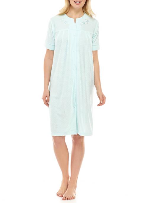 Womens Terry Short Button Robe