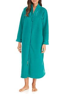 10fe962989 Miss Elaine. Miss Elaine Brushed Back Terry Long Zip Robe