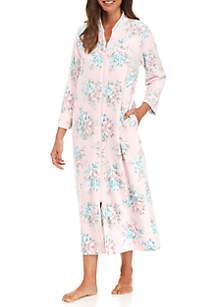 Luxe Fleece Long Zip Robe