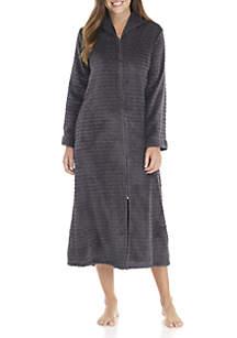 Long Jacquard Fleece Robe
