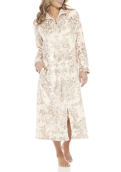 Printed French Fleece Robe