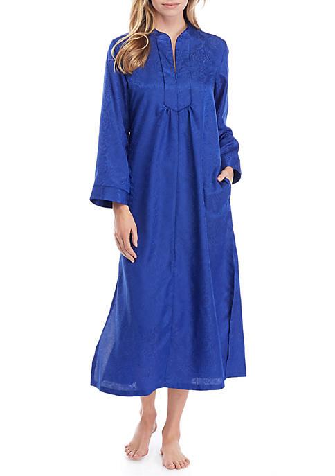 Charmeuse Long Zip Sleep Robe