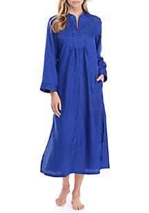 Miss Elaine Charmeuse Long Zip Sleep Robe