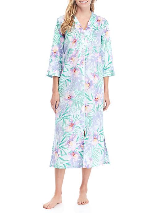 Long Sateen Zip Robe