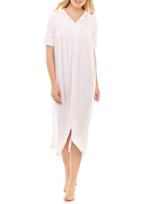Womens Terry Long Zip Robe