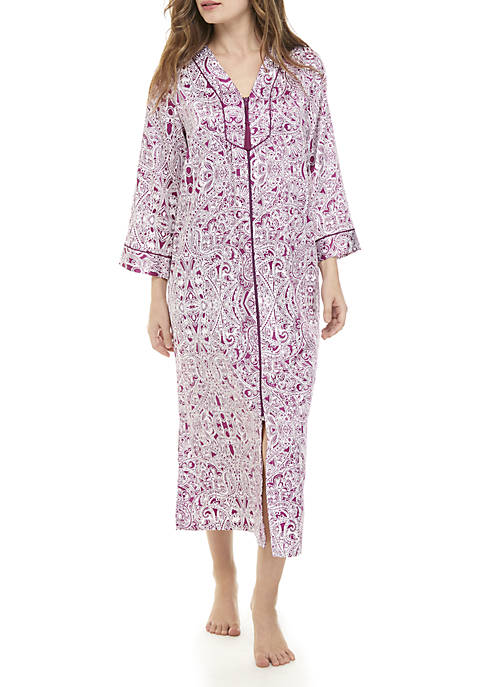 Miss Elaine Long Zip Night Gown 3e6deeb15