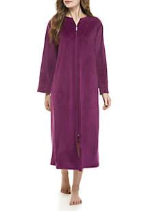 Velvet Fleece Zip Robe