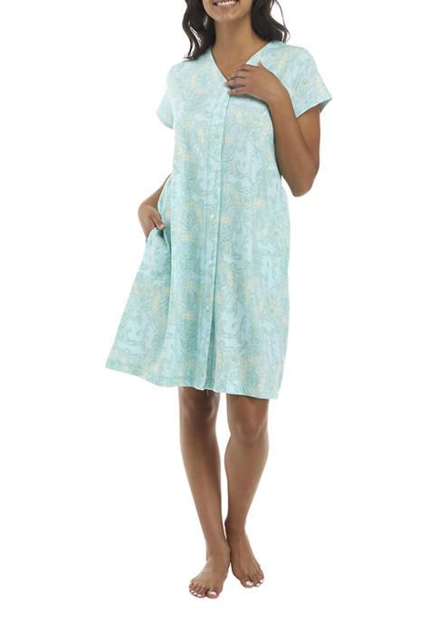 Interlock Full Zip Gown