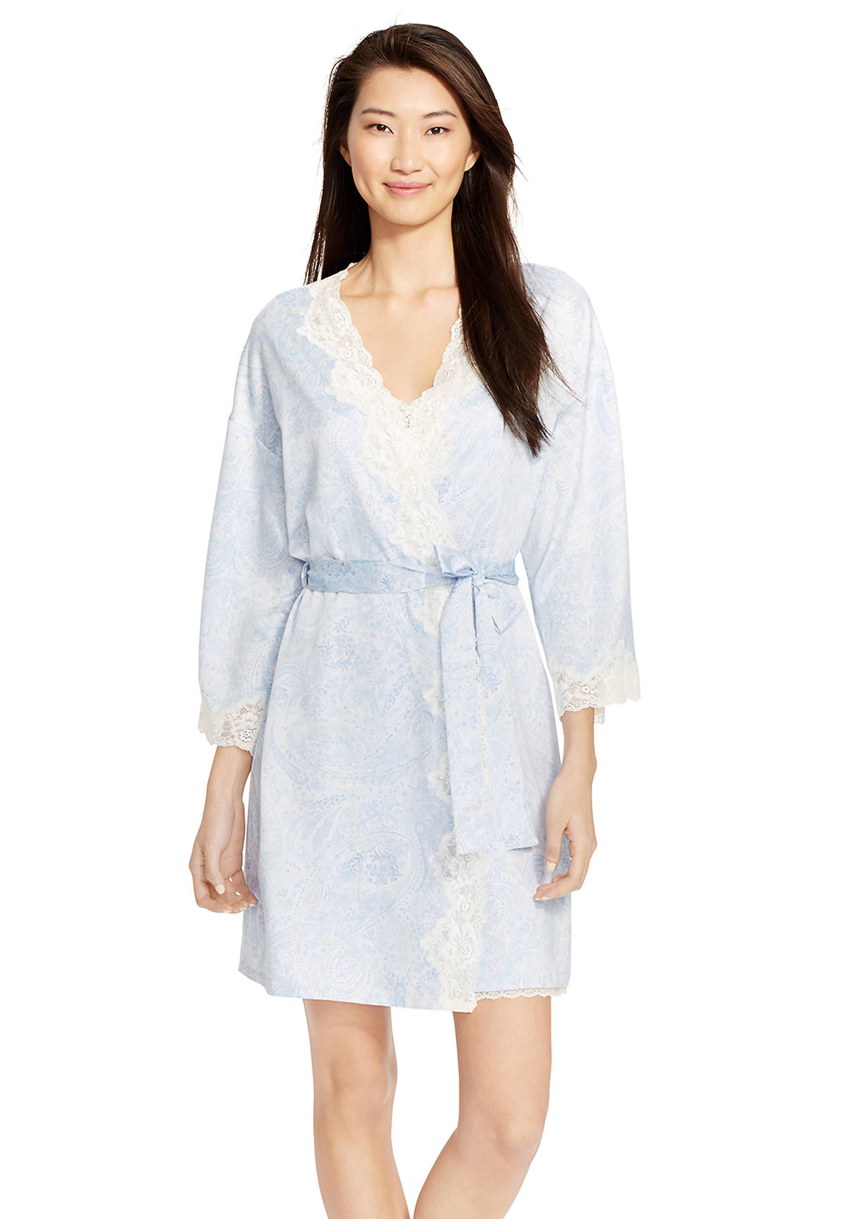 Lauren ralph lauren satin bridal robe belk images ombrellifo Choice Image