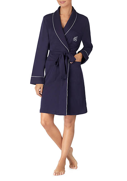 Lauren Ralph Lauren Cotton Shawl Wrap Robe