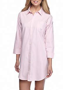 Lauren Ralph Lauren Woven Cotton His Shirt Sleep Shirt