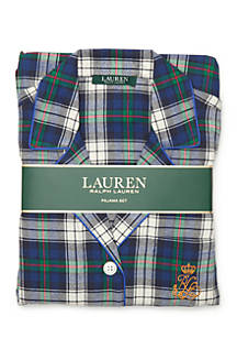 a0e582a63783f Lauren Ralph Lauren. Lauren Ralph Lauren Plaid Flannel Pajama Set
