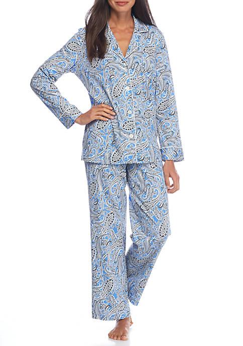 Lauren Ralph Lauren Bingham Knit Paisley Pajama Set  300464487