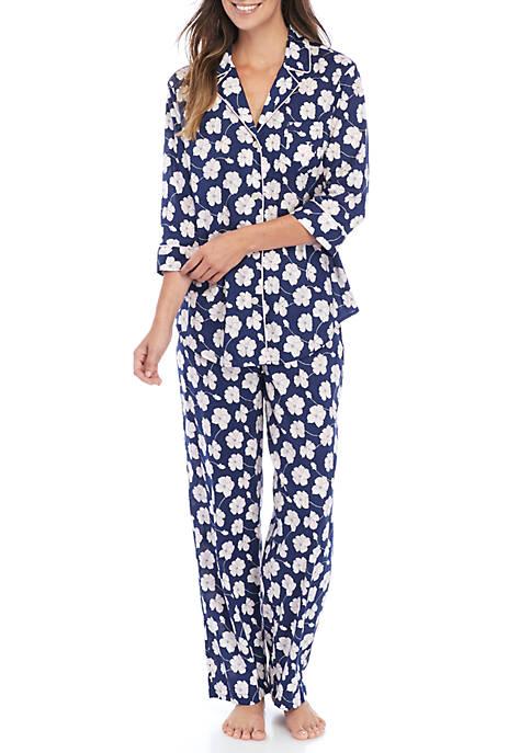 Three-Quarter Sleeve Lawn Pajama Set