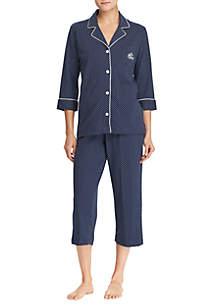 Knit Capri Pajama Set