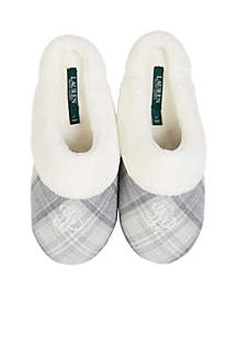 Brushed Twill Slippers