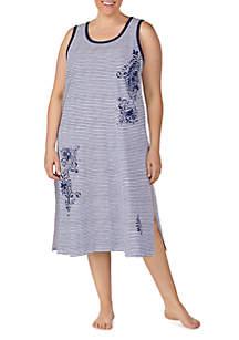Lauren Ralph Lauren Plus Size Sleeveless Maxi Night Gown