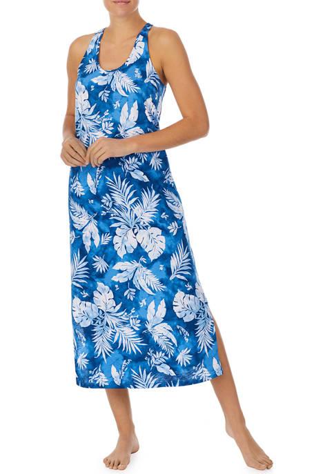 Lauren Ralph Lauren 100% Cotton Midi Nightgown