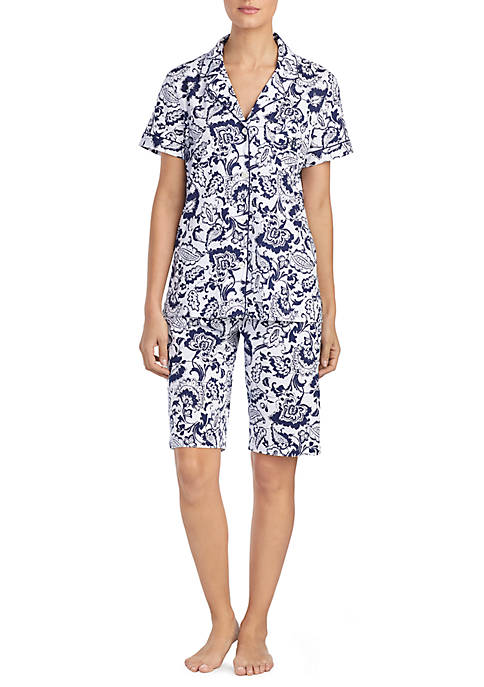 Lauren Ralph Lauren Two-Piece Short Sleeve Notch Collar