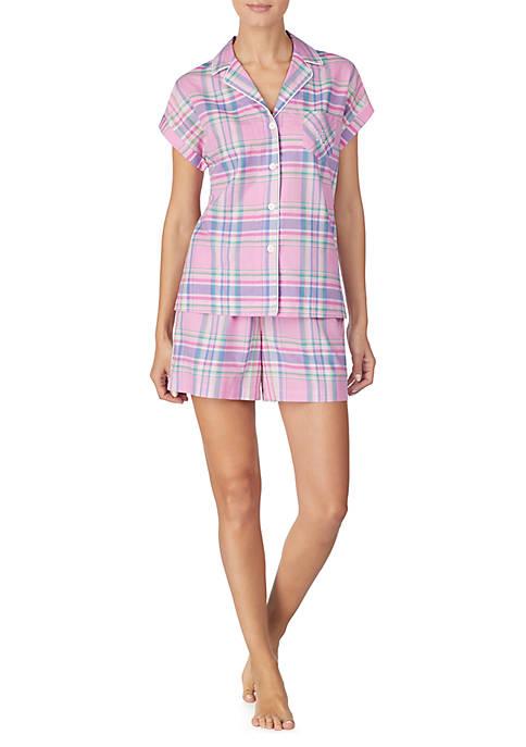 Lauren Ralph Lauren 2 Piece Short Sleeve Woven