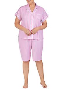 Lauren Ralph Lauren Plus Size Knit Bermuda Pajama Set