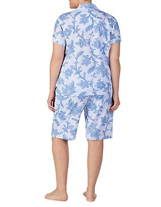 ba9488bf Lauren Ralph Lauren Plus Size Short Dolman Sleeve Pajama Set