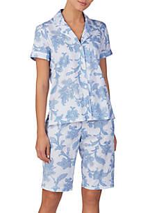 Lauren Ralph Lauren Short Dolman Sleeve Bermuda Pajama Set
