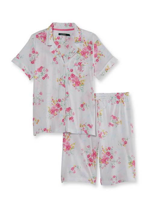 Lauren Ralph Lauren 2-Piece Bermuda Shorts Pajama Set
