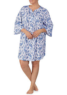 Plus Size Flare Knit Sleep Gown