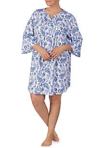 Lauren Ralph Lauren Plus Size Flare Knit Sleep Gown