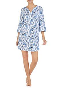 Lauren Ralph Lauren Flare Sleeve Short Gown