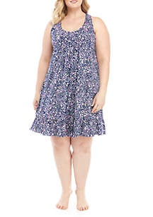 Lauren Ralph Lauren Plus Size Short Floral Night Gown