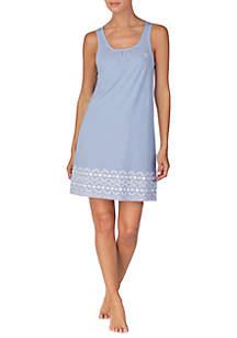 Lauren Ralph Lauren Sleeveless Short Stripe Nightgown