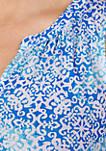 Plus Size Sleeveless Knit Flounce Nightgown
