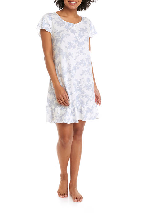Lauren Ralph Lauren Short Sleeve Short Nightgown