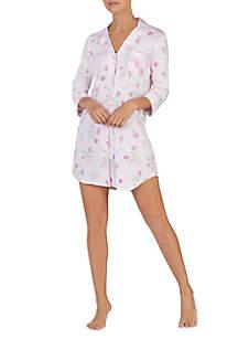 3/4 Sleeve Knit Sleepshirt